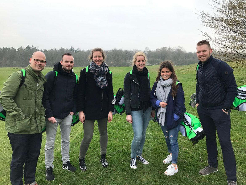 Eerste business trainingen op de golfbaan een groot succes